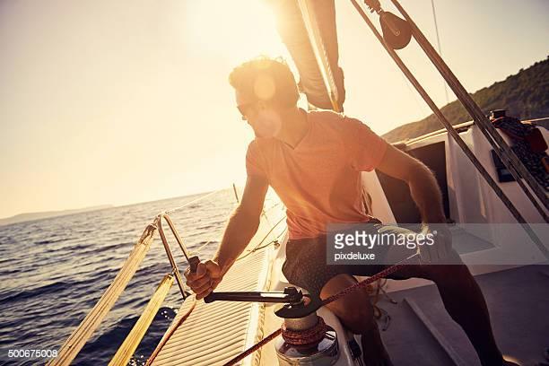 Segeln auf dem Meer