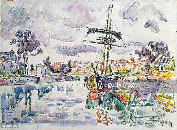 'Sailboat at a Pier' 1920s Signac Paul Found in the collection of the State Hermitage St Petersburg