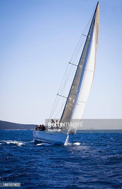 Sailboat at race