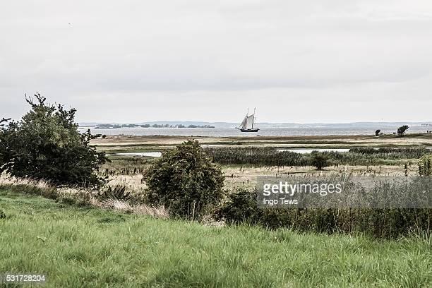 A sailboat at the Baltic Sea
