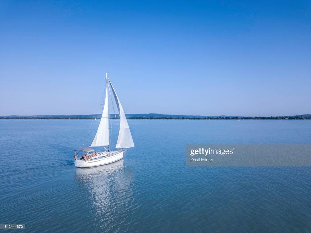 Sailboat - Balaton lake : Stock Photo