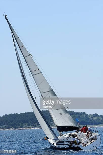 Sailboat during regatta