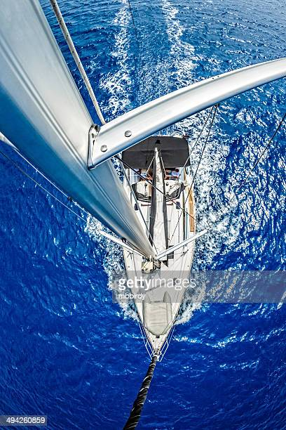 Sailboat from above