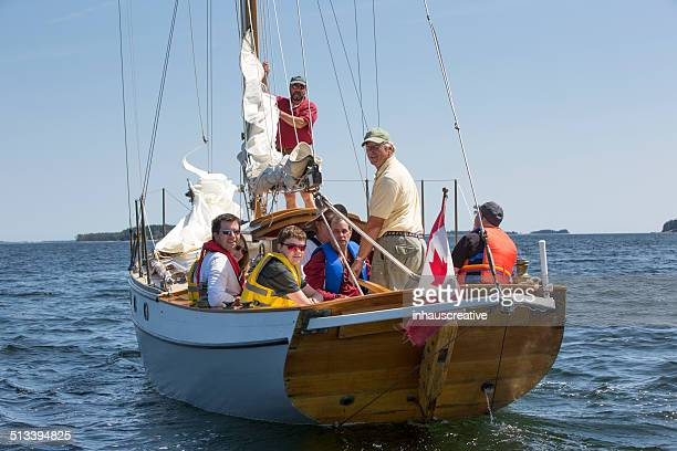 Sailboat full of people