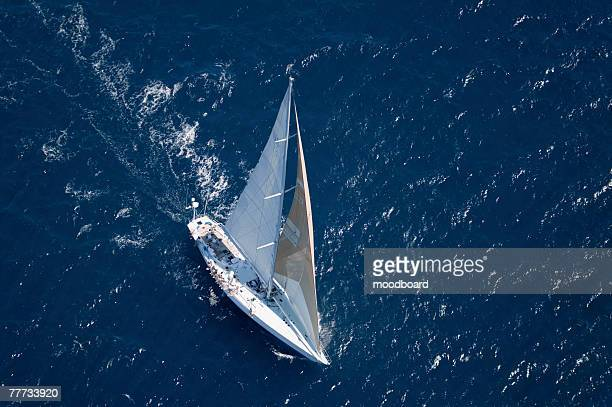 Sailboat in Sailing Race
