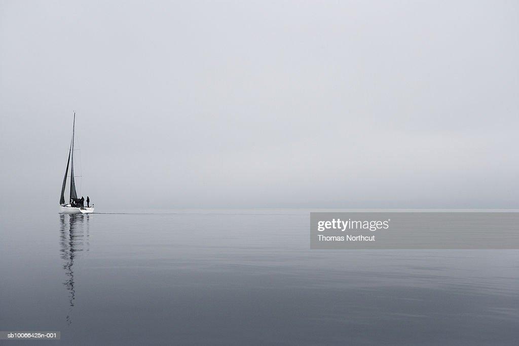 Sailboat in sea : Stock Photo