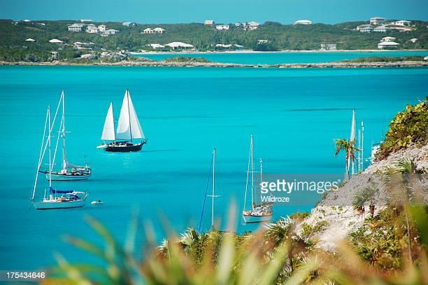 Bateau à voile dans les Bahamas