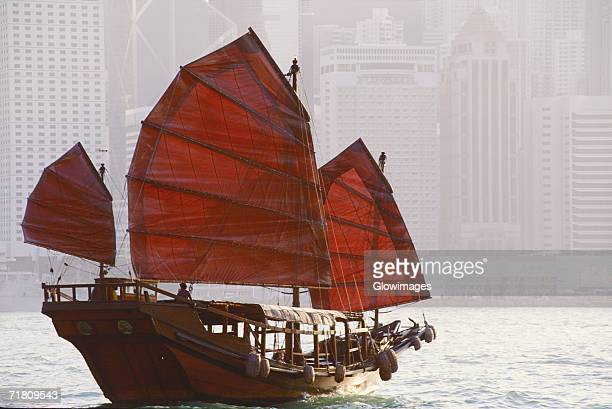 Sailboat in the sea, Hong Kong, China