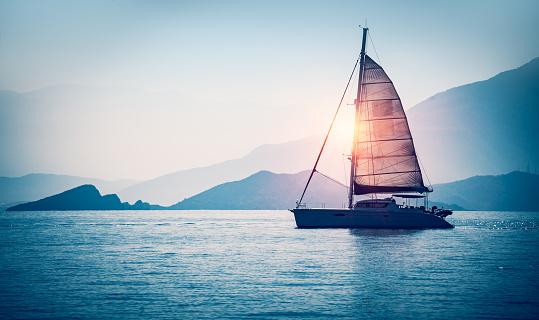 Sailboat in the sea 856889080