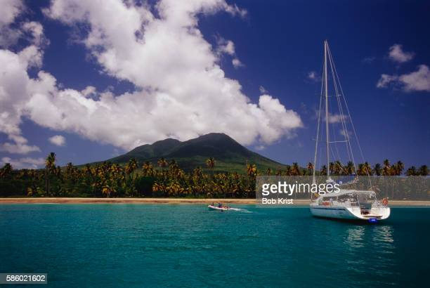 Sailboat Off the Coast of Nevis