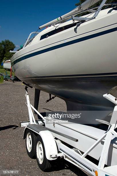 Sailboat on a trailer