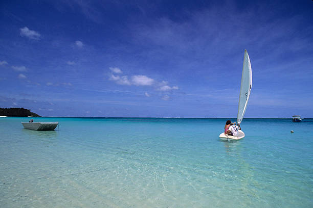 Sailboat On Crystal Blue Water
