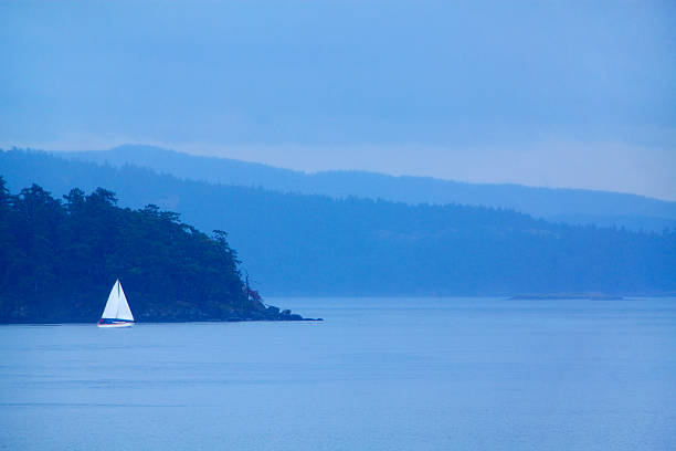 Sailboat On Ocean. Wall Art