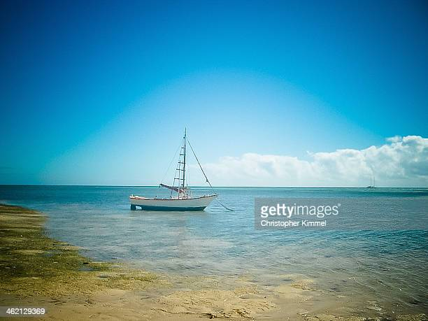 Sailboat on shore