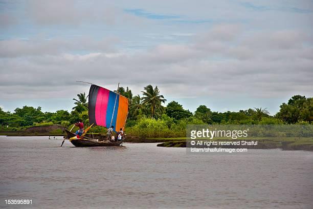 sailboat - bangladesh nature stock photos and pictures