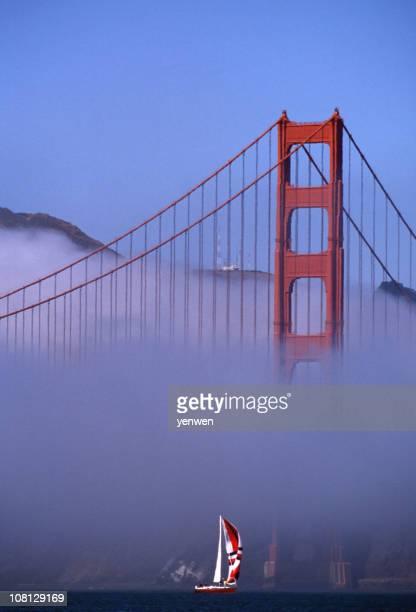 Sailboat Under Golden Gate Bridge, San Francisco