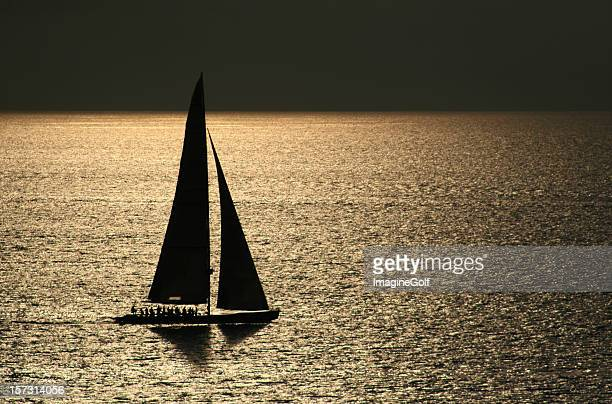 sailboat with group of people in sea of cortez - smooth stock pictures, royalty-free photos & images