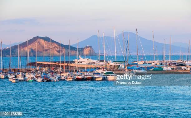 Sailboats at Marina Grande Procida Island Campania Italy