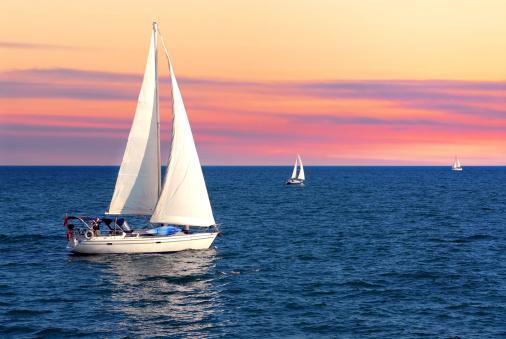 Sailboats at sunset 156797672