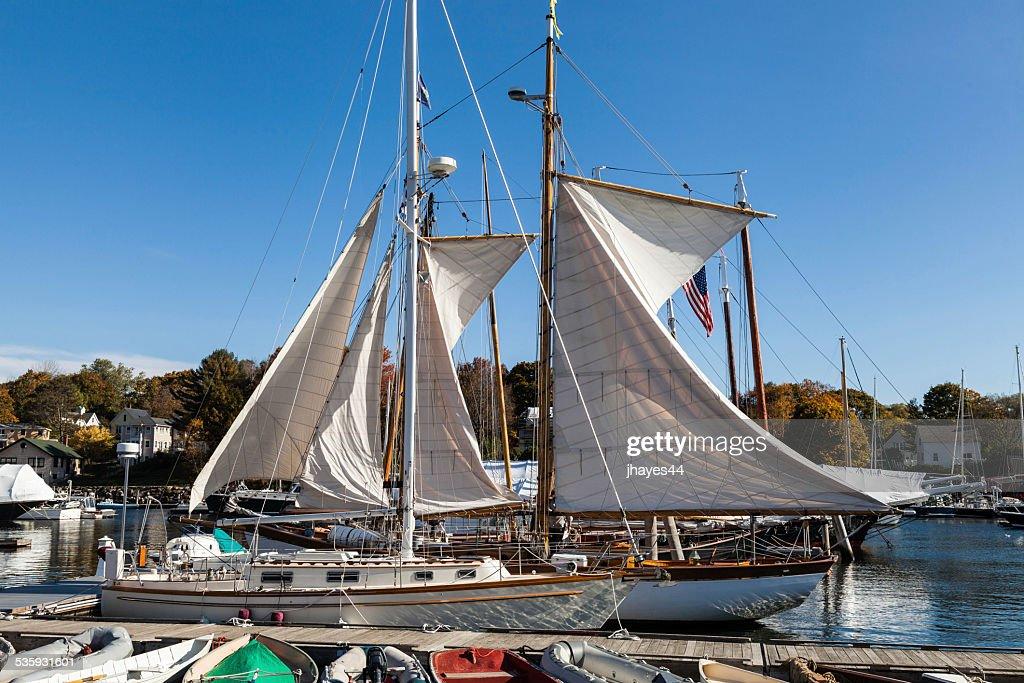 Sailboats in Camden Harbor : Stock Photo