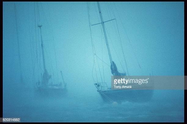 Sailboats in Hurricane Hugo