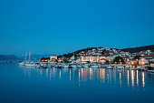 sailboats marina at dusk trogir splitdalmatia