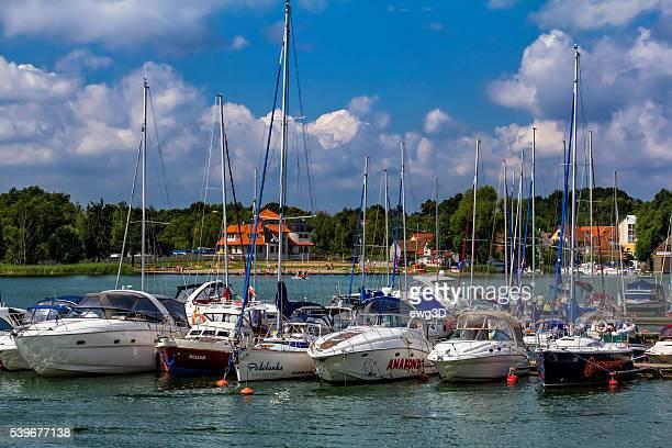 Sailboats in Marina, Mikolajki, Poland
