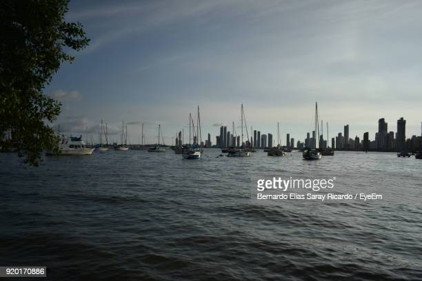 Sailboats In Sea Against Sky