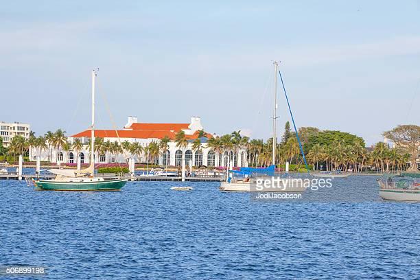 Segelboote in Lake Worth Lagune in West Palm Beach