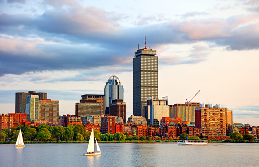 Sailboats on the Charles River in Boston Massachusetts 904905790