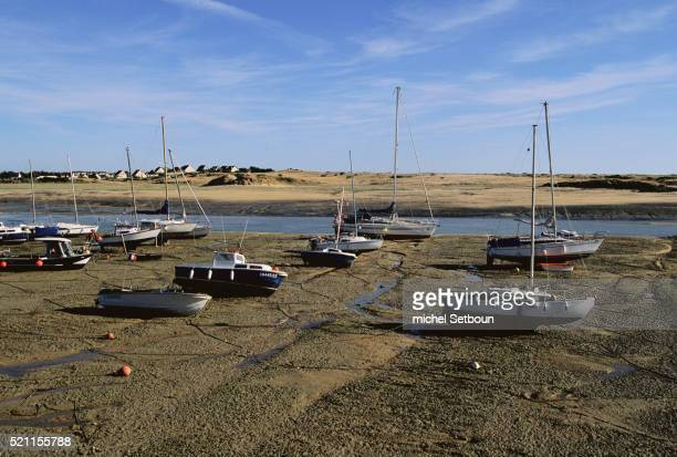 Sailboats on Tideflats at Barneville-Carteret