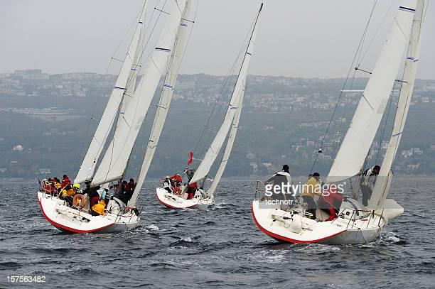 Segelboote Rennen auf der regatta