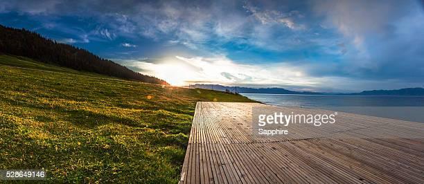 Sailimu Lake sunset,Xinjiang,China