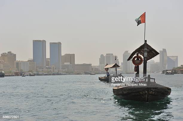 Sailing across the river at Old Dubai United Arab Emirates