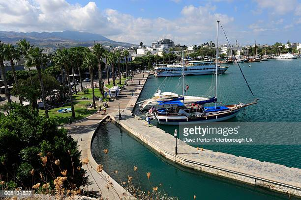 Sailing and fishing boats in Kos town harbour