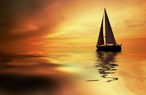 sailing and sunset 140386592