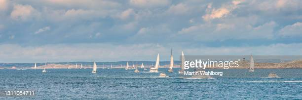 sailing at the swedish coastline - västra götaland county stock pictures, royalty-free photos & images
