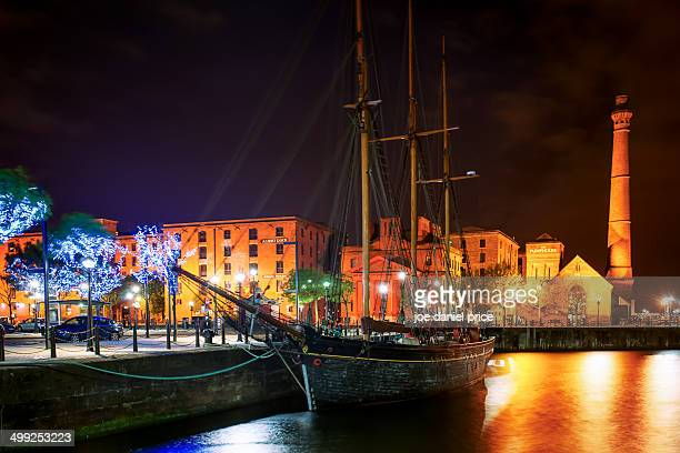 Sailing boat at Albert Dock, Liverpool