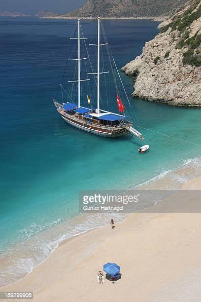 Sailing boat at the beach