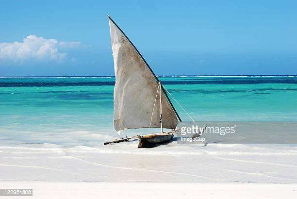Sailing boat in paradise