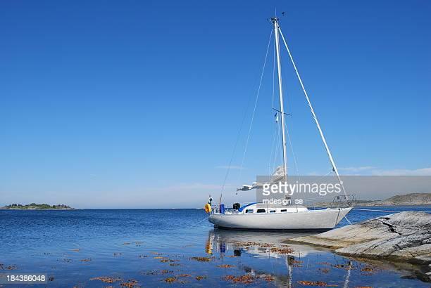 Sailing boat in the Swedish archipelago