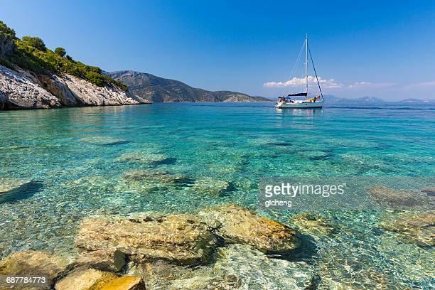 Sailing boat, Ithaki, Greece