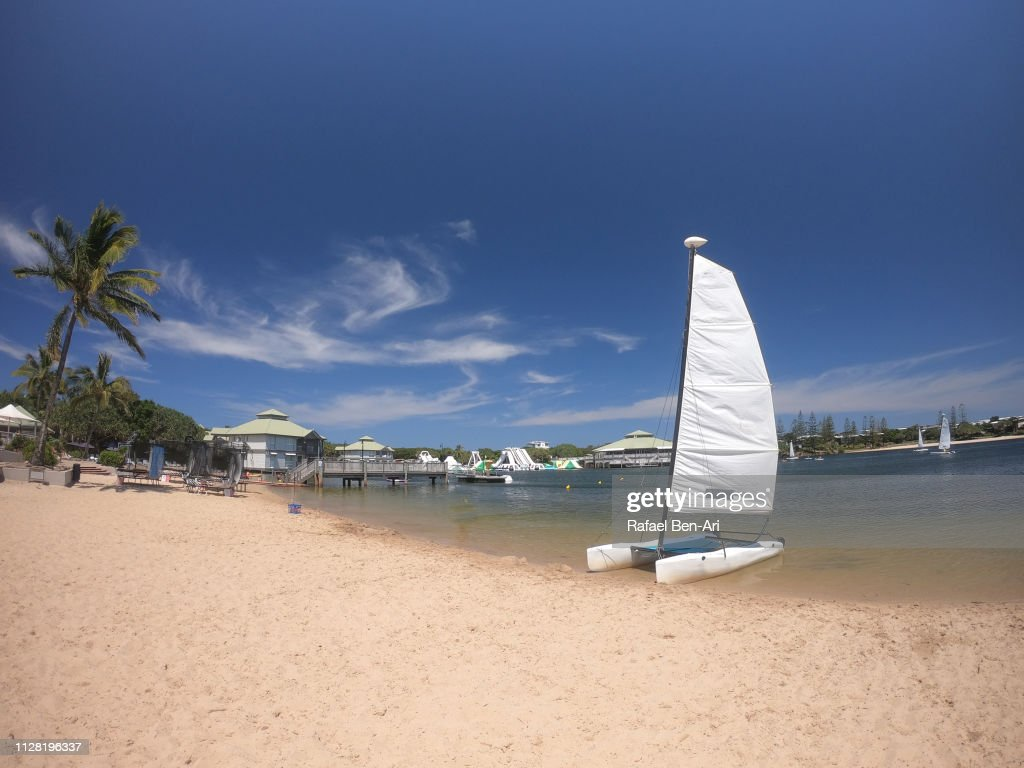 Sailing Boat on a Lake : Stock Photo