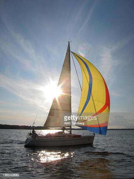 sailing boat - espoo stock pictures, royalty-free photos & images