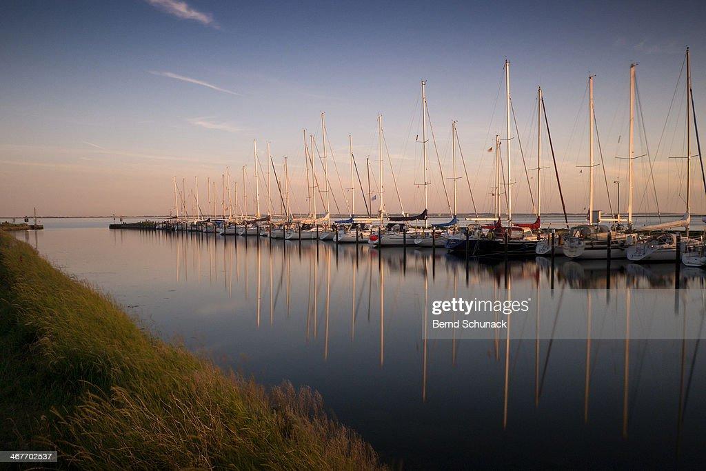 Sailing boat reflections : Stock-Foto