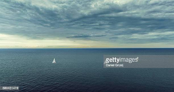 Sailing boats at the ocean