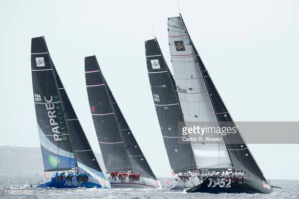 Sailing boats compete during a leg of the 38th Copa del Rey Mapfre Sailing Cup on August 01, 2019 in Palma de Mallorca, Spain.