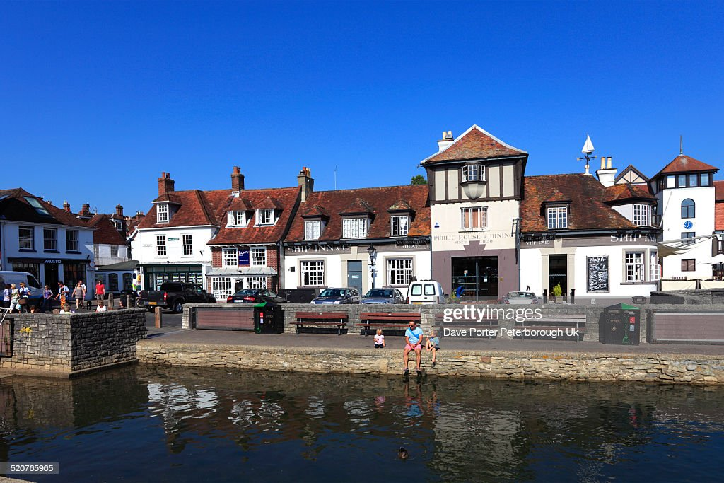 Sailing Boats in Lymington Harbour : Stock Photo