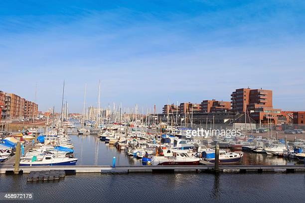 sailing boats in the marina of Scheveningen