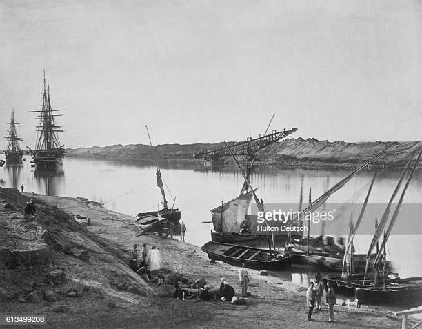 Sailing Boats on the Suez Canal